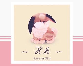 Animal ABC - H as Bunny