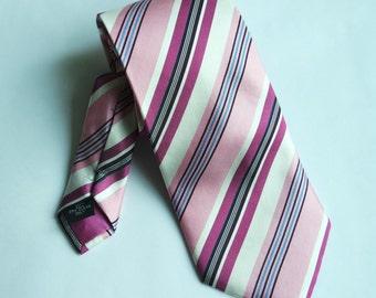 Vintage Silk Striped Tie, Classic Nectie