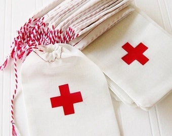 4x6 Hangover Kit Bag With  Red Cross