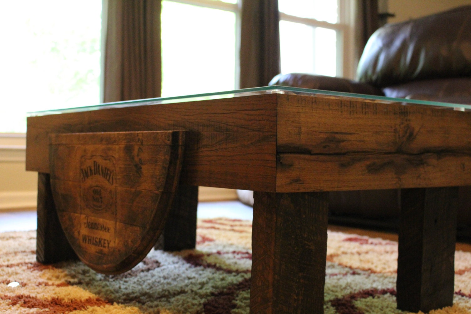 Whiskey barrel coffee table geotapseo Choice Image