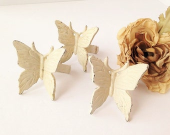 Cast Iron Butterfly Napkin Rings / Butterfly Napkin Rings / Napkin Rings / Cast Iron Napkin Rings / Vintage Napkin Rings