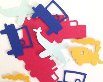 Transportation Confetti - Cars Trucks Trains and Planes - Confetti - First Birthday - Boy Birthday - Transportation Theme - Car Confetti