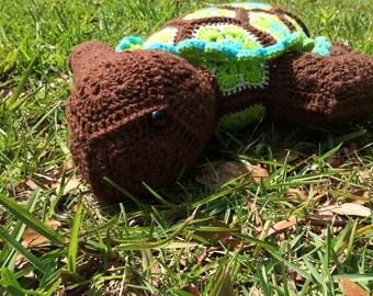 African Flower Turtle Stuffed Animal