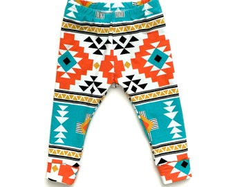 Baby Leggings - Aztec Print, Baby Shower gift, Baby clothes, Baby boy leggings, baby girl leggings, trendy baby