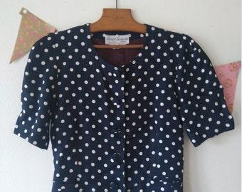 Vintage 50s style polka dot jacket
