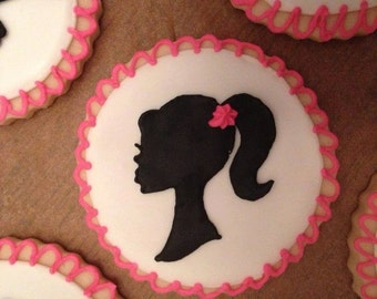 Barbie Silhouette Sugar Cookies