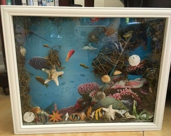 under the sea 3D water shadow box