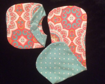 flannel, reversible  baby set