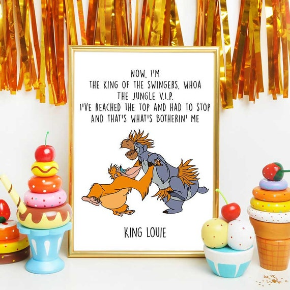 Jungle Book Quotes Inspiration Jungle Book Print Disney Quotes Baloo And King Louie Jungle