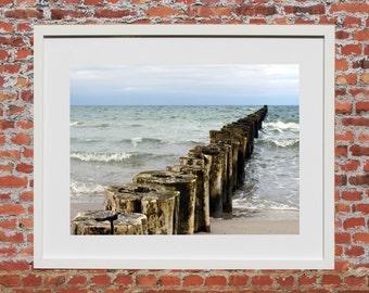 Beach & peace 1, photo painting, 45 x 30 cm