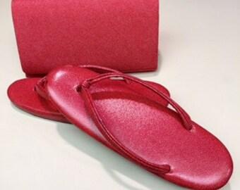 Spring Sale, Used, Japanese Shoes, Handbag and Kimono Set