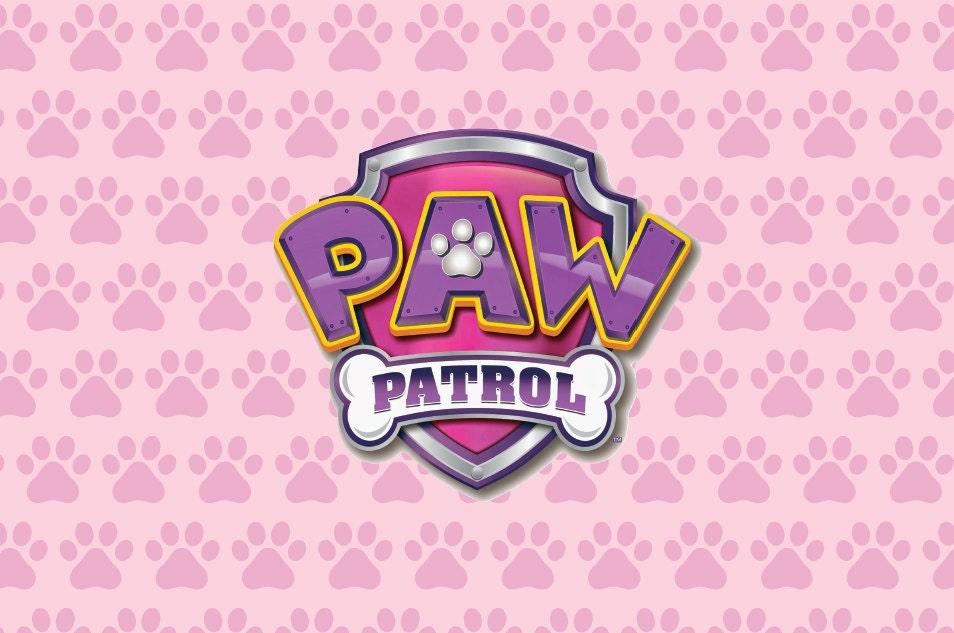 Girl Paw Patrol Backdrop By Paperstudioeu Pink Dog Bone Wallpaper