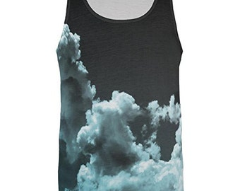 Black Clouds All Over Adult Tank Top