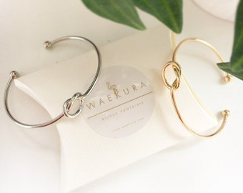 Node soft bracelet, gold plated