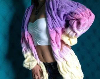 Knitwear handmade cardigan