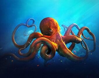 Octopus - (Print/Poster)