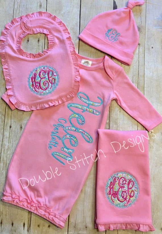 Personalized baby gift girl layette by