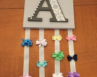 Letter A Hair Bow Holder Wall Art