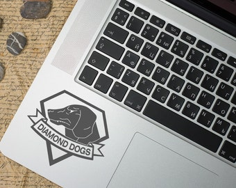 Metal Gear Solid Diamond Dogs inspired Vinyl Decal, MGS game Decal, laptop decal, macbook, wall sticker, car decal, Ipad, PS4, PC, Xbox