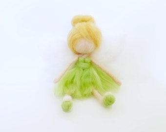 Inspired by Tinkerbell (Needle Felted Ornament)