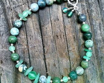 Green Jasper and Aventurine Bracelet