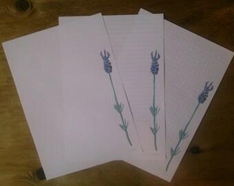 Printable notepaper - watercolour lavender