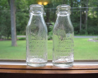 Vintage Thomas A. Edison battery bottles, lot of 2, Made in USA