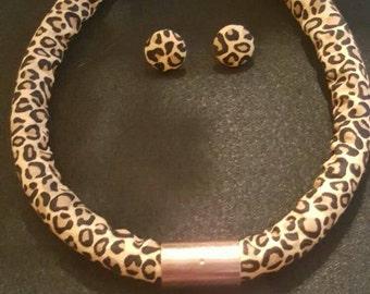 Leopard Rope Necklace Set