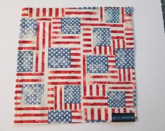 Stars and Stripes custom hand made handkerchief