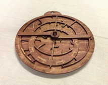 Astrolabe -- laser cut and etched, personalized to your chosen location