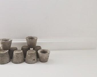 small cement planter