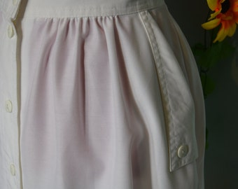 vintage 70s80s white buttoned skirt hipster