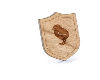 Chick Lapel Pin, Wooden Pin, Wooden Lapel, Gift For Him or Her, Wedding Gifts, Groomsman Gifts, and Personalized