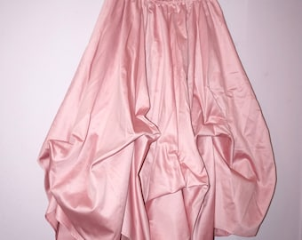 Custom made 8 gore gather-up skirt Victorian Steampunk Bustle Renaissance Skirt