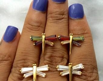 DRAGONFLY Crystal Stud Earrings