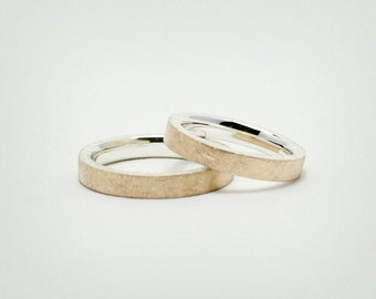 """Silver / 585 Gold partner rings """"Duo"""""""
