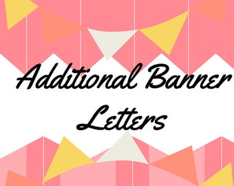 Additional Banner Letters,