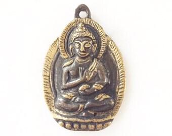 Brass Buddha Tibetan Pendant