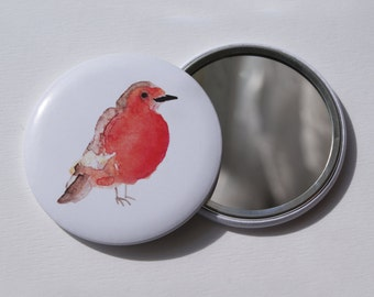56mm - Robin + Pouch Pocket mirror