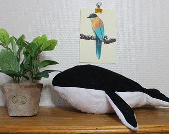 """Plush Black Whale / / plush whale black """"Mochi"""""""