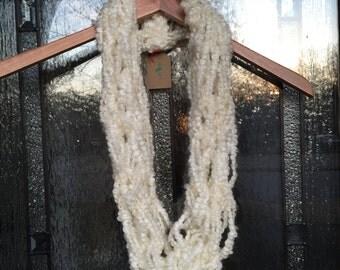 Arm Knit Infinity Scarf Creamy Dove