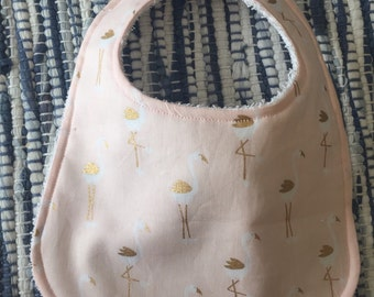 Gold Flamingos Bib