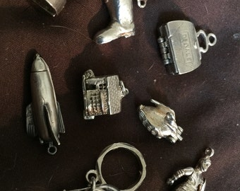 Vintage Sterling Silver Charms Movers
