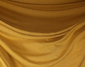 "Bamboo 4 way spandex ""Mustard"" Eco-Friendly NATURAL FiBER by the yard 8oz"