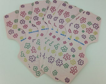 Foldable Tags, x20, Flower Tags, Product Tags, Jewelry Tags, Craft, Display Labels, Retail Supplies, Necklace Tags, Bracelet Label