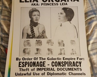 Princess Leia wanted poster