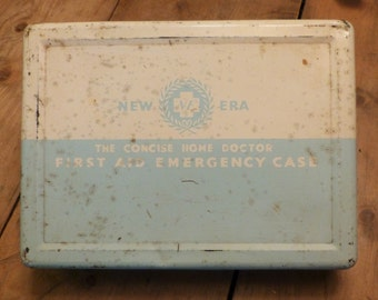 Vintage First-aid Kit - Retro First Aid Box (stock#6285)