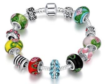 Colors Of the Rainbow Pandora Inspired Bracelet