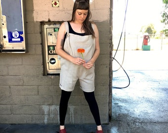 little linen overalls | •panties• art by molly perez | artist series | L