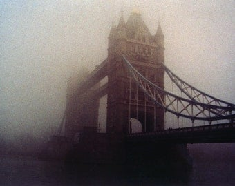 Fog over Tower Bridge.